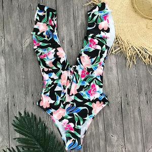 Image 5 - סקסי ביקיני 2019 בגד ים בגדי ים חתיכה אחת בגד ים Push Up נשים לפרוע Monokini מתכוונן כתף ללא משענת בגד ים