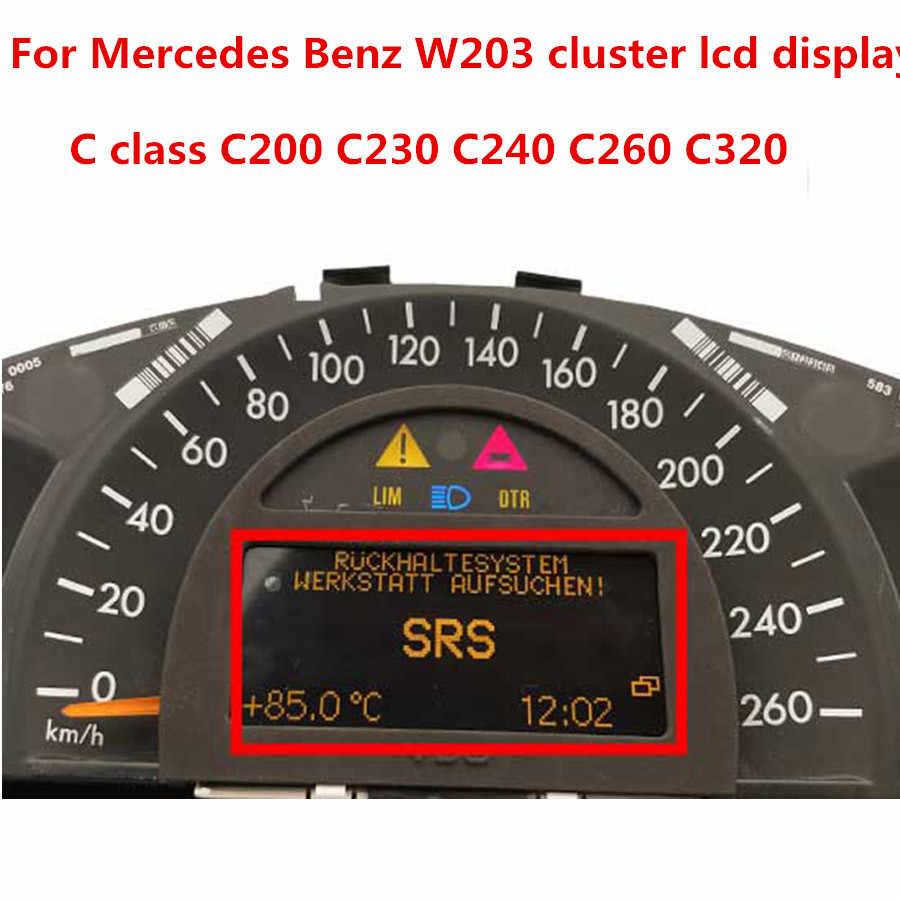 Mercedez C class W203 Cluster center LCD Repair