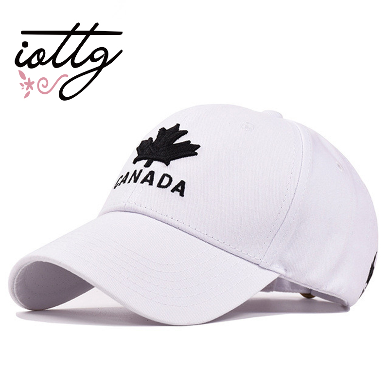 IOTTG 2018 New 100% Cotton Baseball Cap CANADA Embroidery Snapback Hats For Men aAnd Women Caps Hat Gorras brand winter hat knitted hats men women scarf caps mask gorras bonnet warm winter beanies for men skullies beanies hat