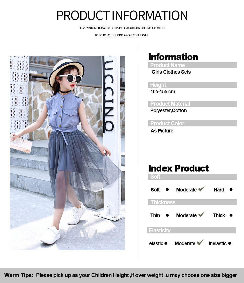 HTB1rhUOUwHqK1RjSZFkq6x.WFXak - Kids Girls Clothes Set Solid Dress + Skirt 2PCS Girl Summer Clothes Casual Teen Clothes For Children 6 8 10 12 13 14 Year