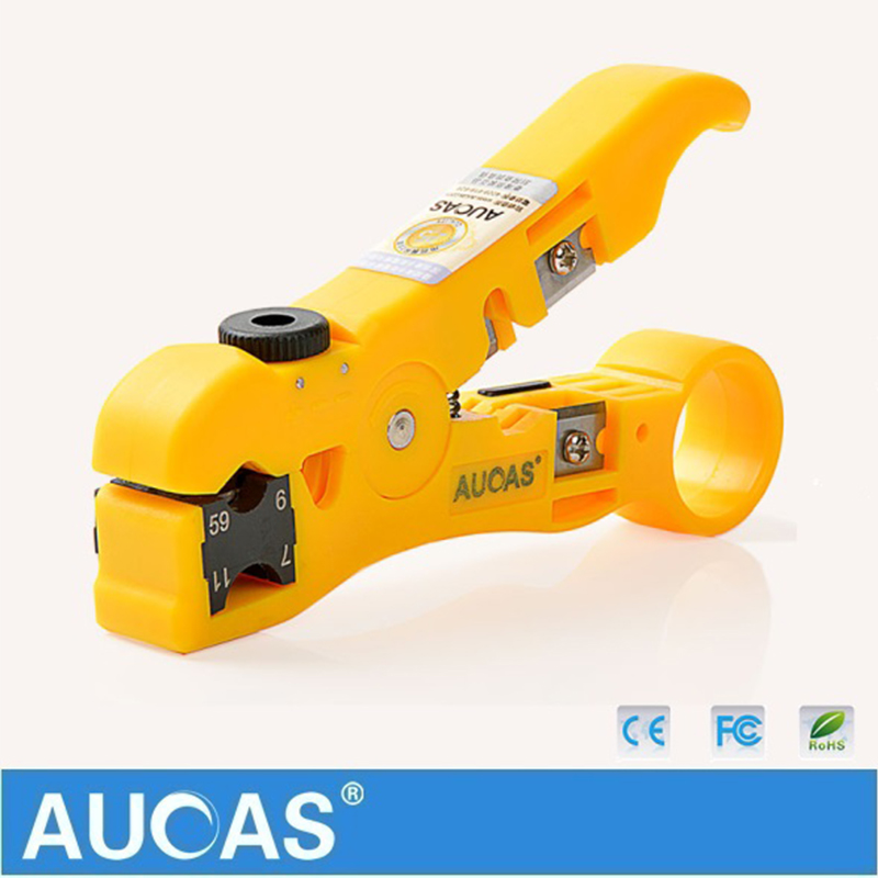 Image 4 - Universal Network Cable Wire Cutter Stripper Coaxial Cable RG59/6/7/11 Cat5e Cat6 Round & Flat Cable Cutting Stripping Tool-in Networking Tools from Computer & Office