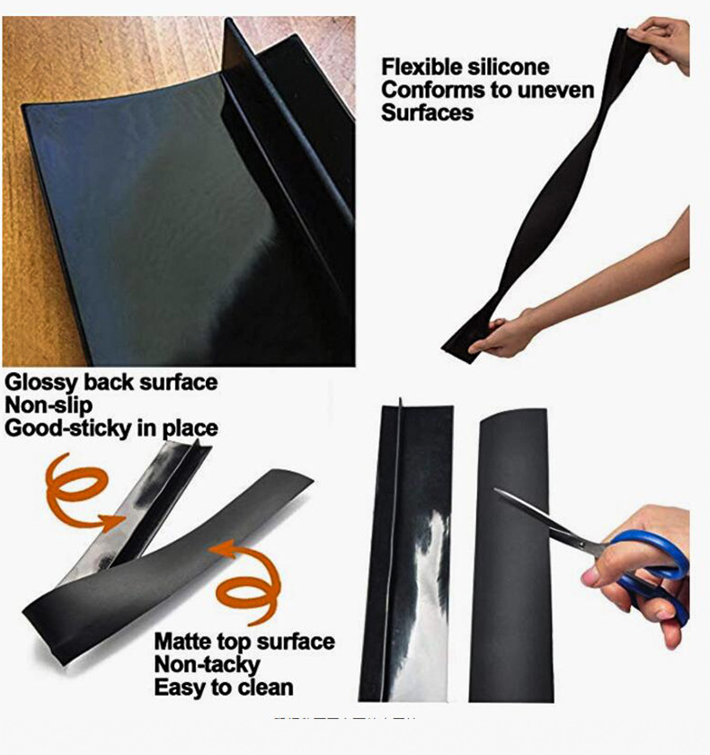 HTB1rhUVbwKG3KVjSZFLq6yMvXXaY - Kitchen Silicone Stove Counter Gap Cover Set of 2 Heat Resistant Stove Gap Fillers Oil and Grease Proof Sealing Strip Stove-top