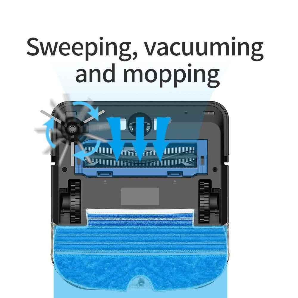 Proscenic 880L Esterilizar Robot Vacuum Cleaner para Casa Automático Varrer a Poeira APP Inteligente Planejado de Lavar Esfregar