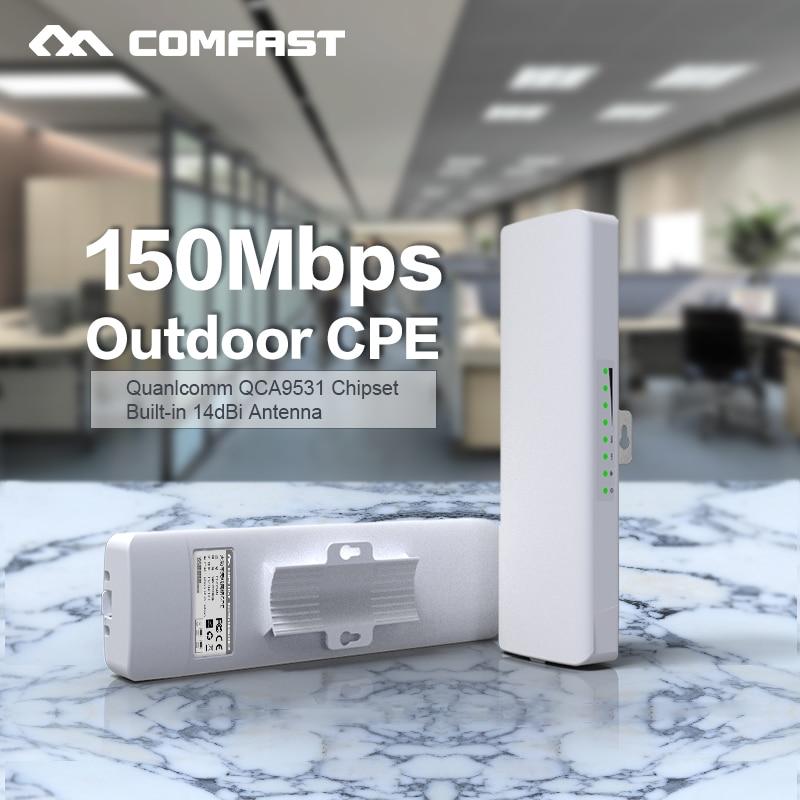Comfast CF E214N Wireless outdoor router 2 4G 150M WIFI signal booster Amplifier Network bridge14dBi Antenna