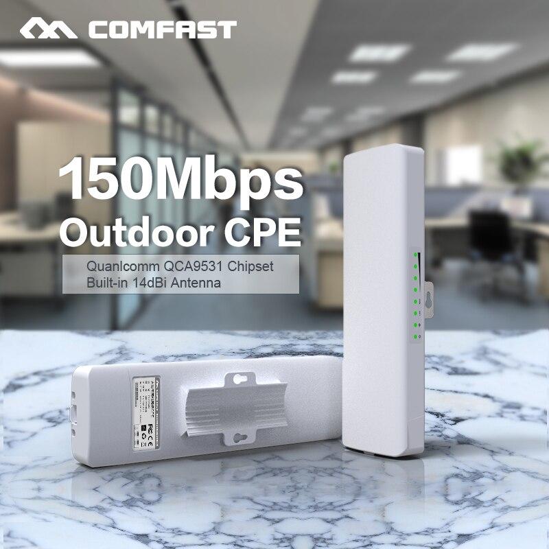 Comfast CF-E214NV2 2,4 г Беспроводной открытый маршрутизатор 2 км WI-FI Усилитель сигнала Усилитель WDS сетевой мост 14dBi антенны wi fi доступа
