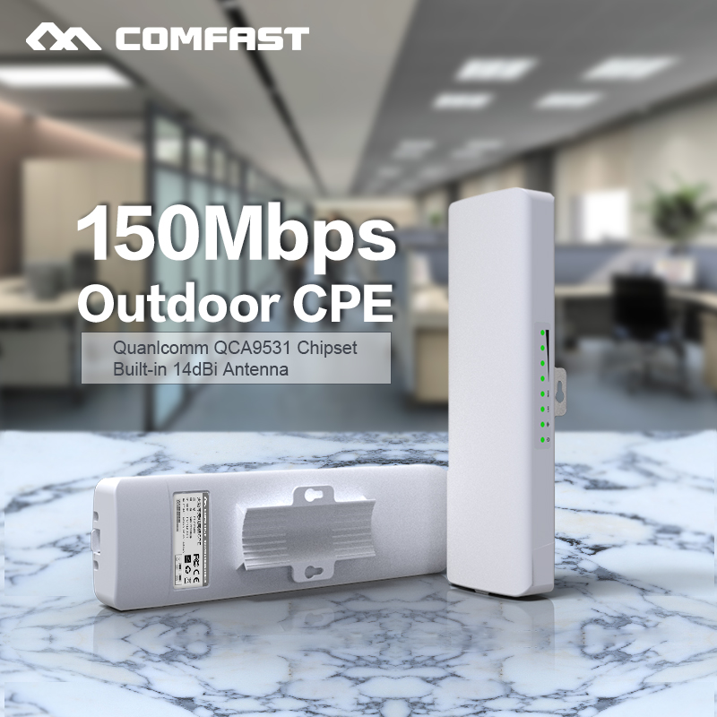 Comfast CF-E214NV2 2.4G Wireless outdoor router 2KM WIFI signal booster Amplifier WDS Network bridge 14dBi Antenna wi fi access comfast wireless outdoor router 5 8g 300mbps wifi signal booster amplifier network bridge antenna wi fi access point cf e312a