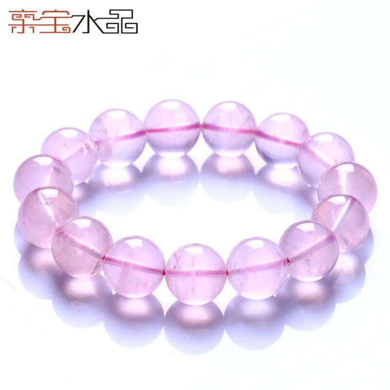 Cristal types de glace naturelle de cristal rose bracelet starlight accessoires féminins