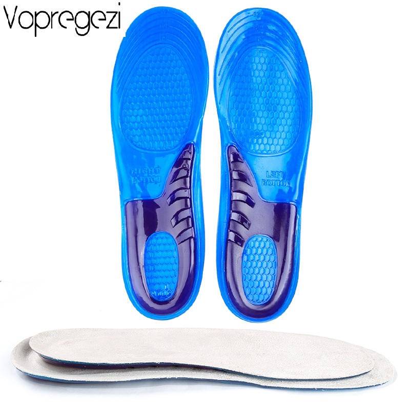 Vopregezi Gel Pad for Foot Care Tool Orthotic Arch Support Silicone Anti-Slip Gel Soft Orthopedic Shoe Insole Pad for Man Women