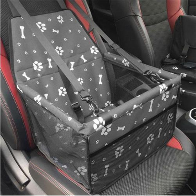 Waterproof Single Seat Pet Carrier Dog Cat Car Rear Back Seat Cover Travel Folding Blanket Cushion Mat For Small Medium Dog