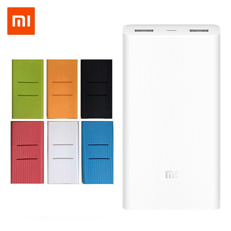 Bateria Externa Banco de Potência Xiaomi originais 20000 mah 2C QC3.0Mi carregamento Dual USB 20000 mah carregador Powerbank portátil para telefone