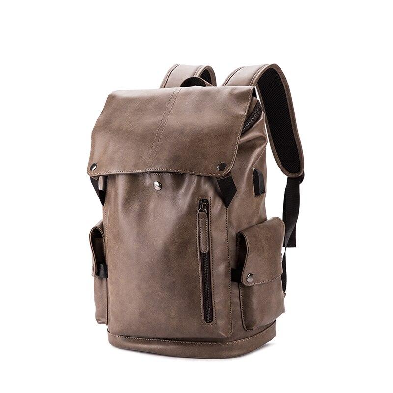 mochila de viagem qualidade couro macio grande