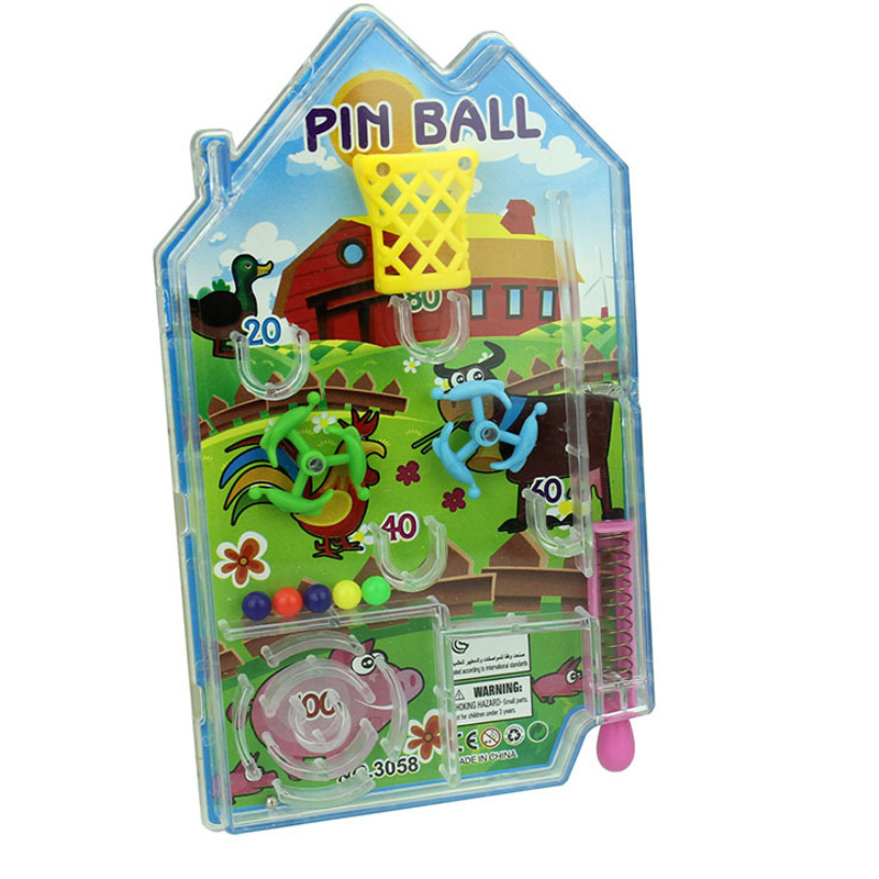 New Mini Cartoon Lovely Intelligence Pinball Maze House Pin Ball Pan Funny Shooting Balls Games Educational Toys For Children