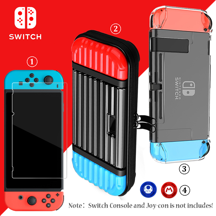 Nintend Switch NS Accessories Storage Hard Bag Nintendos Switch Console Travel Carrying Case for Nintendo Switch Accessories