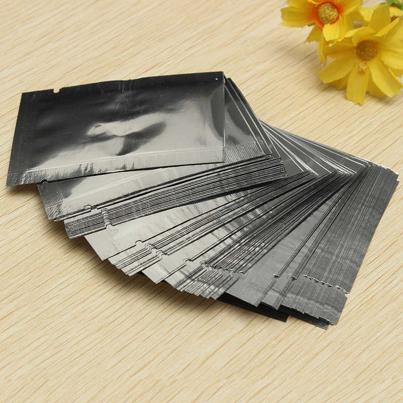 100pcs Silver Aluminum Foil Bags Vacuum Sealer Storage Pouches for Food Tea Candy Cookie Baking 7X5cm MAYITR