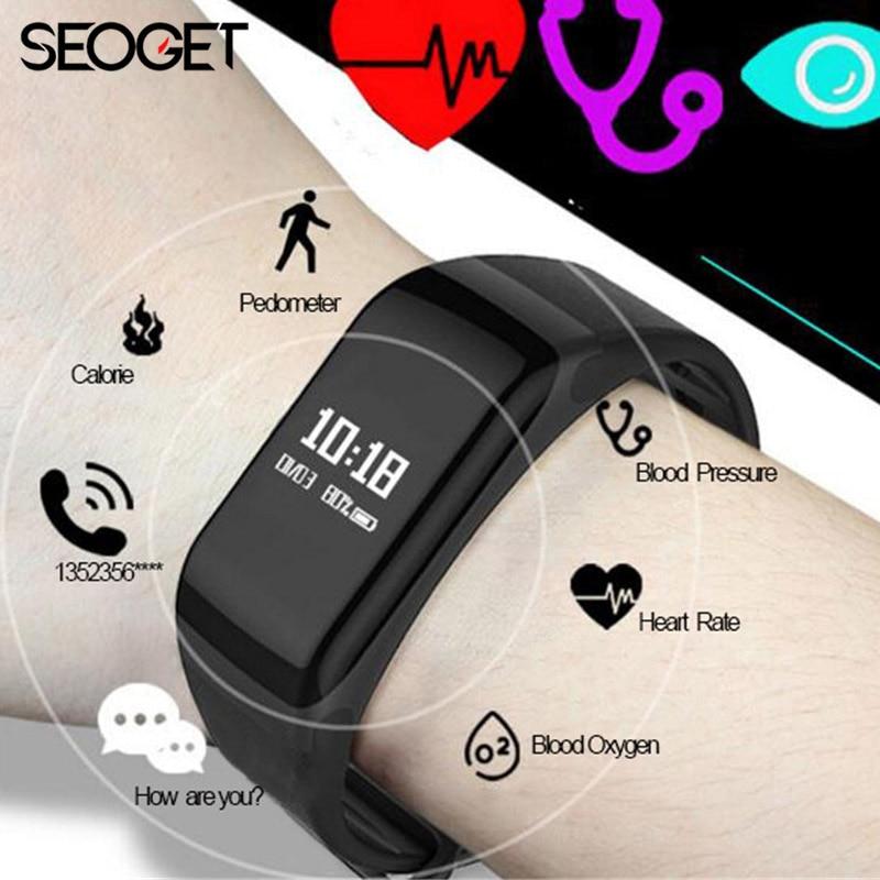 Splashproof inseguitore palestra Braccialetto Intelligente Frequenza Cardiaca/pressione sanguigna orologi intelligente wristband Chiamata di promemoria Pedometro intelligente banda