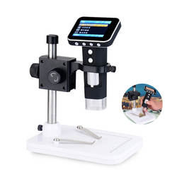 Elecrow New Arrival 500x Portable USB 2.0 & USB 1.1 Compatible Digital Microscope with 2.4inch HD Screen Integrated Stand