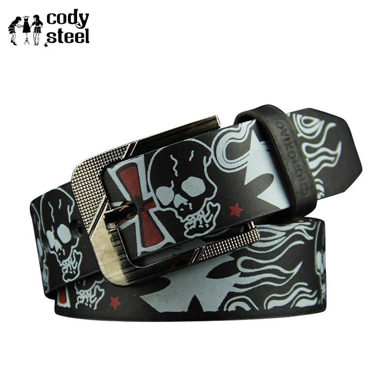 Cody Steel Pin Buckle Men   Belts   PU Leather Classic Women Fashion   Belts   Individuality Casual Female   Belts   Unisex