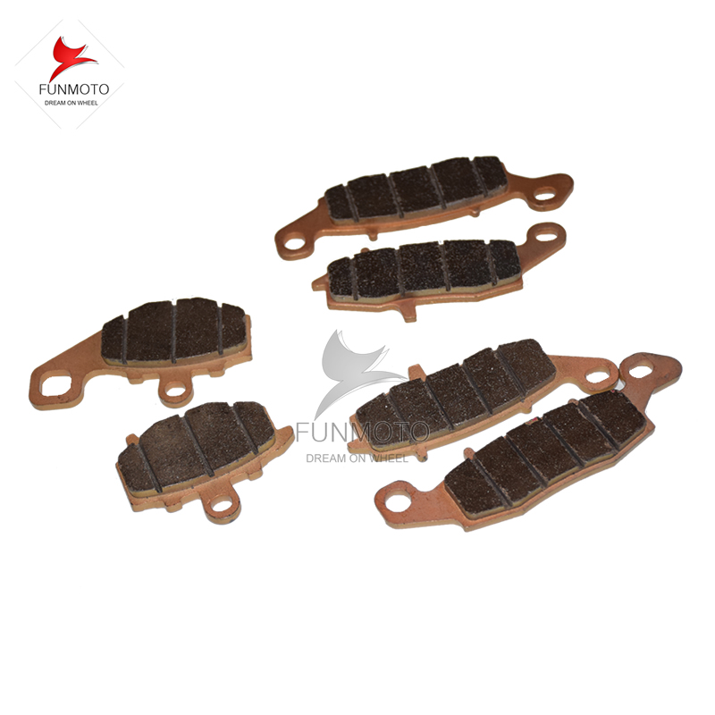 FRONT AND REAR BRAKE PADS OF  CFMOTO  CF650-2 TR  650NK CF MOTORCYCLE PARTS NO. IS A000-0801A0/A000-0801B0A000-0802B0 front left and front right and rear brake pad of cf moto cf650nk modl year 2013