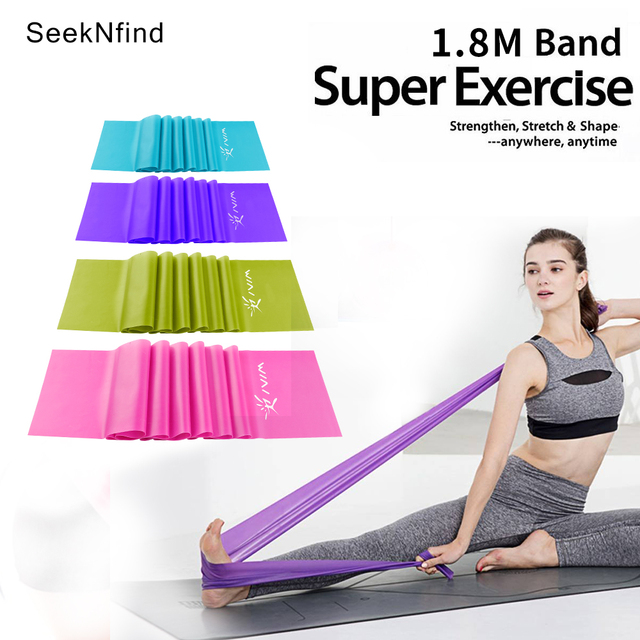 1.8 m TPR Stretch taśma do ćwiczeń elastyczna joga Pilates odporność zespół Fitness Crossfit trening ciągnąć liny gumowe zespół trening
