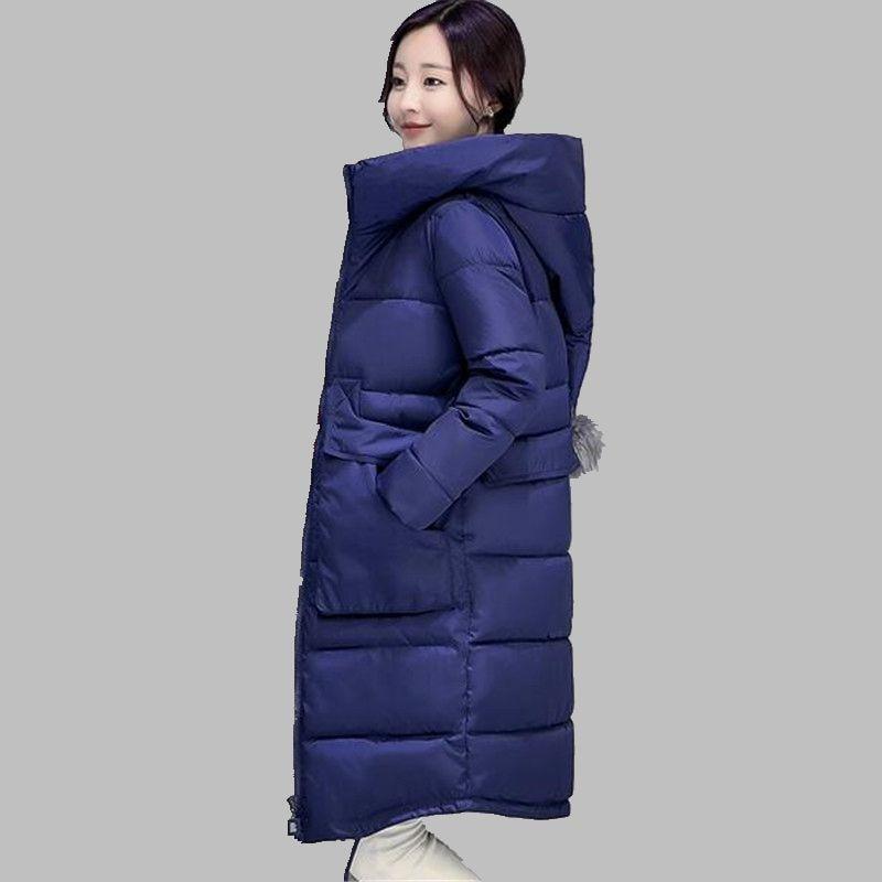 ФОТО Heat Warm Winter Down jacket Medium long Thick Cotton Coat Latest Style Women Jacket Large size Loose Leisure Women Coat G2794