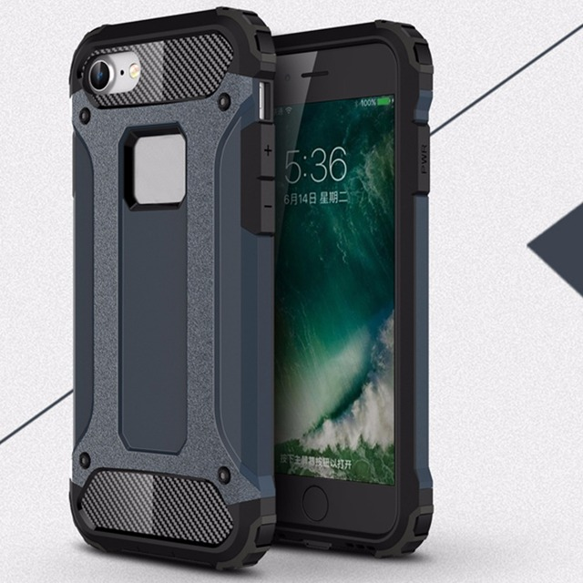 on sale 58cdd c5298 US $4.99 |[Long Steven] For iPhone 8 Plus Case Unique Armor Anti Knock  Attached Dust Cap Cover For iPhone 7 Plus Case Dirt Resistant Funda-in  Phone ...