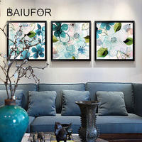 BAIUFOR DIY Diamond Mosaic Painting Flowers Diamond Embroidery Pictures Of Rhinestones Crystals Cross Stitch Kits Home
