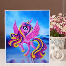 Cartoon pony puzzle 3D DIY Sticker Self adhesive Crafts Learning Education Toys children Creative puzzle Game