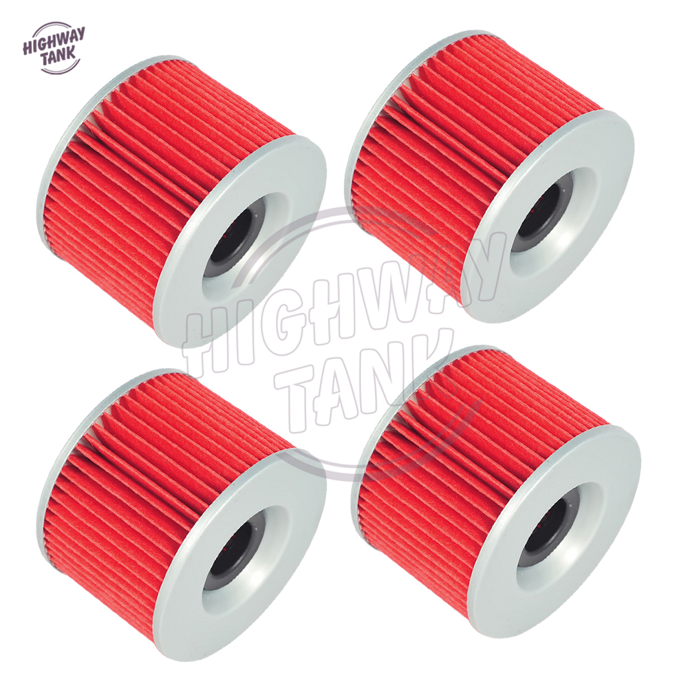 4 Pcs Motorcycle Engine oil filter case for <font><b>Honda</b></font> <font><b>TRX</b></font> <font><b>400</b></font> 500 650 680 Rancher <font><b>Foreman</b></font> Rubicon Rincon CBR250RR CB450 CX650 VT250 image