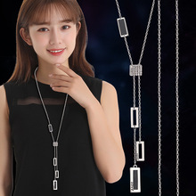 Geometric Tassel Long Necklaces & Pendants For Women Jewelry Maxi Statement Necklace 2019 Sweater Dress Accessories All Match