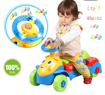 2017 Baby Walker Rid On Toys Car Features U Type Of Hand Push And Slide With Music Can Speed Mountable Carts Toys For Children