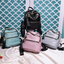 Дизайнер Новый Небольшой Рюкзак Моды ПУ Кожи Женщин Торговый Кошелек сумка Колледж Ветер Студент Школы Рюкзаки