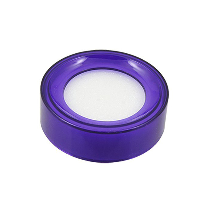 HOT GCZW-Purple Plastic Round Case White Sponge Finger Wet Money Cashier