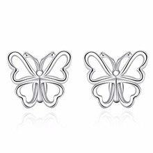 Lose Money Promotion Sale Silver Butterfly Earrings for Women Girls Gifts