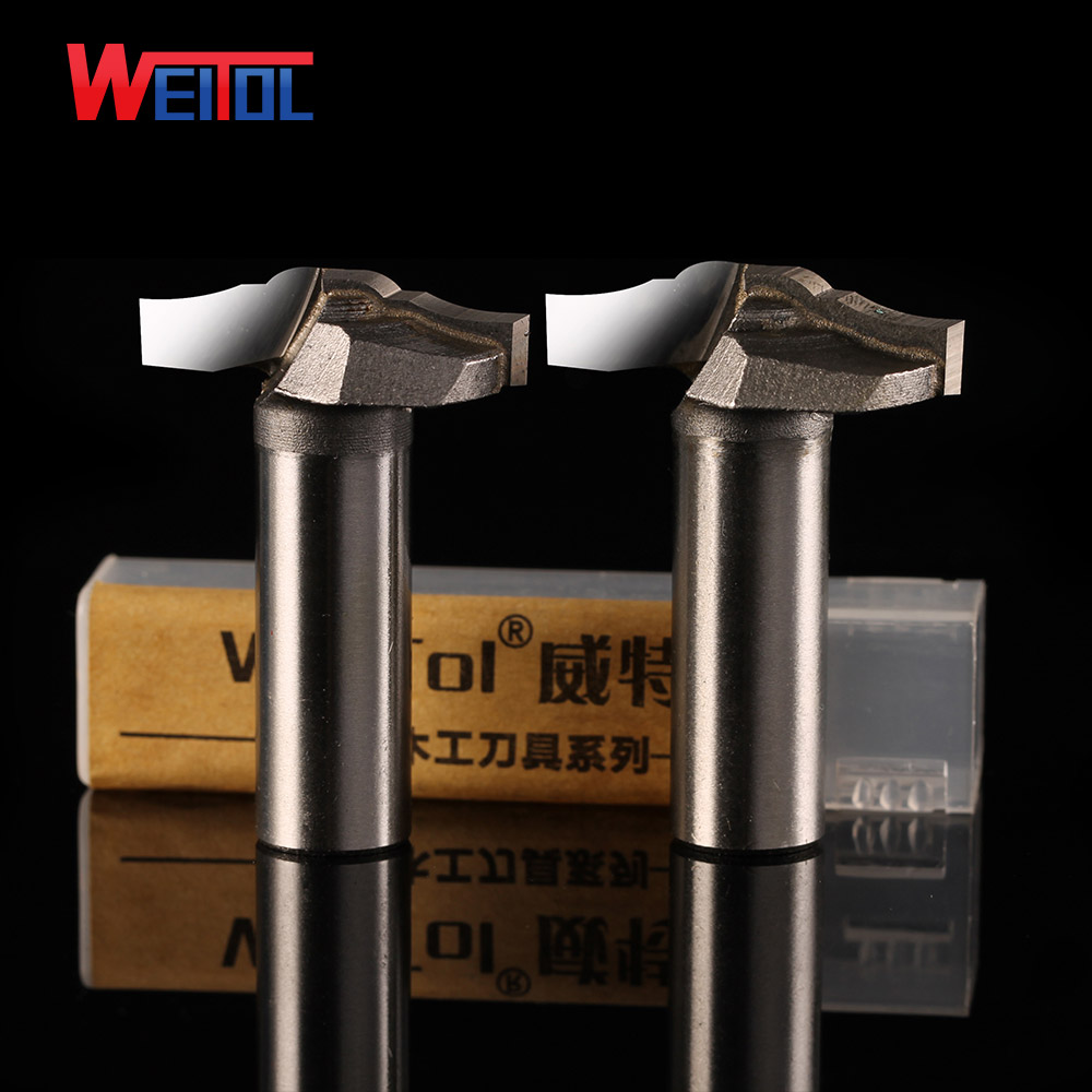 Weitol high quality 1/2 solid carbide door cabinet pattern bit for woodworking CNC end mill wood cutter router bit CNC tools high quality carbide 1 2 shank rail and stile cnc router bit set end mill wood cutter milling tools fresa woodworking tools 2pcs