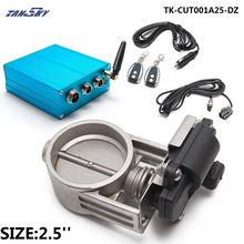 """2 """"/2.25""""/2.5 """"/2.75""""/3 """"válvula de escape controle aleta + caixa controle elétrico para exaustão catback downpipe TK CUT001A25 DZ"""
