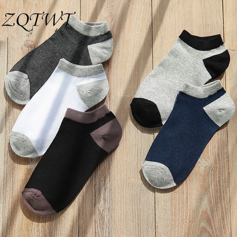 ZQTWT 5Pair/Lot 2018 Fashion New Harajuku Socks Men Solid Cotton Casual Women Socks Men Happy Funny Socks Meias 3WZ050