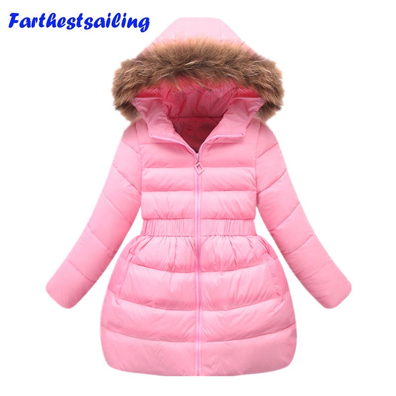 New Girls Coat Winter jacket Fashion Long Sleeve Hooded Jacket Teenagers Warming Outwear Clothes duck down jackets for girl 2017 kids jacket winter for girl and coats duck down girls fluffy fur hooded jackets waterproof outwear parkas coat windproof