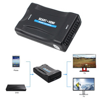 New 1080P SCART To HDMI Converter HD With Charging Adapter Video Audio Signal HDMI To HDMI