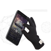 Men Winter Gloves Touchable Screen Gloves for Mobile Phone Knitted Gloves Male Thicken Warm Wool Cashmere Gloves Men Mitten