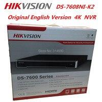 Hikvision NVR DS-7608NI-K2 4 k NVR 8ch 8MP Ingebed NVR plug & play H.265 CCTV Video Recorder Sturen 8 Poorten POE schakelaar