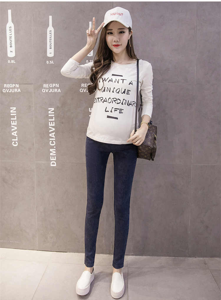 5994dd4eb24ea ... New Denim Maternity Jeans for Pregnant Women Pregnant Pants Pregnancy  Nursing Clothes Spring 2019 Maternity Trousers ...