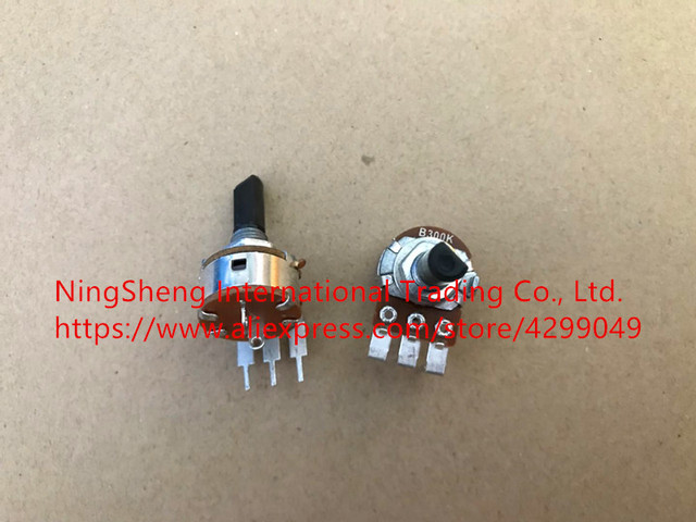 Original new 100% HGS-2510 regulator potentiometer B300K handle long 20MMF 149 type with switch potentiometer