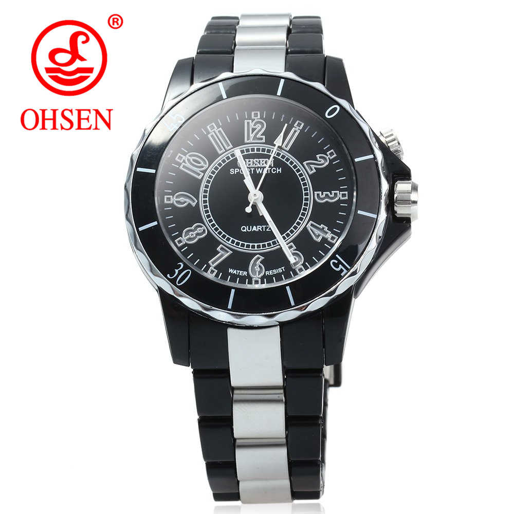 OHSEN Mens Watch Fashion Casual Watches Quartz Wristwatches Waterproof LED Men Clock Boys Girls Sports Watches Women Wristwatch