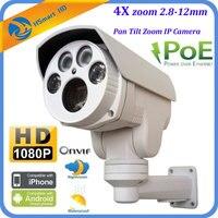 CCTV 1080P Mini Outdoor IR Bullet IP PTZ Camera 4x Optical Zoom POE 2M HD ONVIF