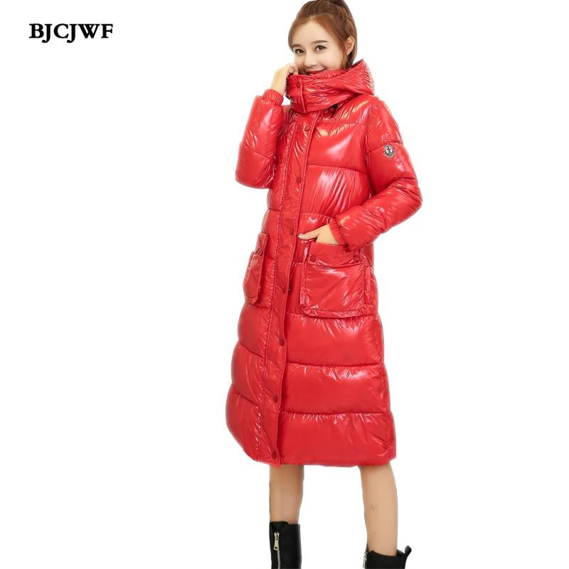 Nouvelles Femmes de Veste d'hiver À La Mode Mince Coton Rembourré De Base Manteau À Capuchon Chaud épais Parkas Hight Qualité Femelle longue Outwear