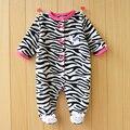 Nova Chegada Do Bebê Romper Do Bebê Das Meninas do Menino Romper Footed Sono Fleece roupas Infantis Pijamas Do Bebê Recém Nascido