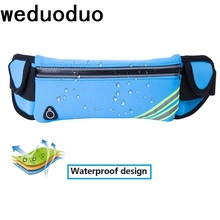 купить Weduoduo New Men Casual Waist Pack Bag Waterproof Lycra Shoulder Fanny Pack Women Belt Bag Pouch Money Phone Bum Hip Bag дешево
