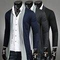 2015 chegada Nova primavera/outono personalidade masculina cardigan fino outerwear moda masculina casual jaquetas/casacos frete grátis