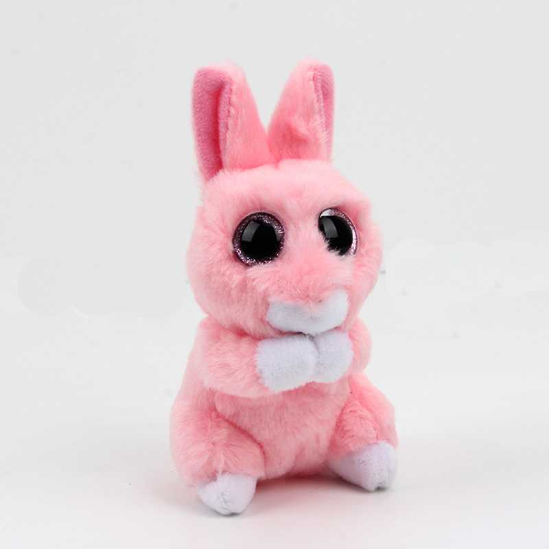ty beanie boos big eyes plush toy beanie babies Kawaii Pink Rabbit Plush doll stuffed animal baby Christmas present Birthday gif rabbit plush keychain cute simulation rabbit animal fur doll plush toy kids birthday gift doll keychain bag decorations stuffed
