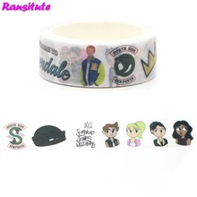 Ransitute R364 Washi Tape Riverdale Japanese Removable Sticker Office School Supplies Handbook Decoration Student Book Decal(China)